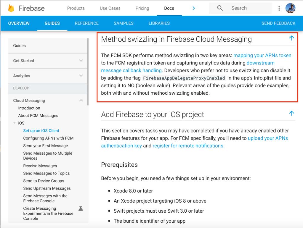 Swizzling in Firebase