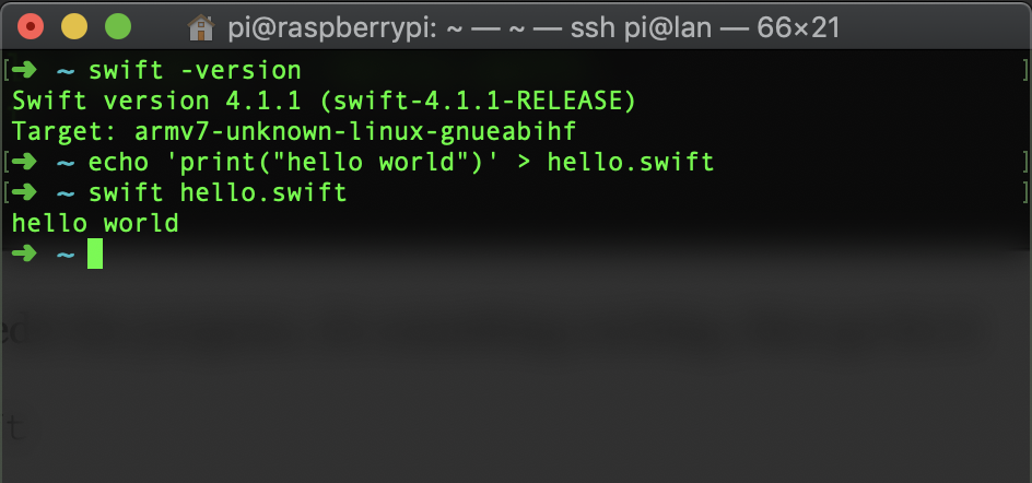 hello world in swift