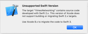 Not support swift version